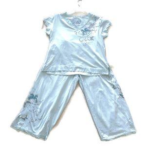 Soma Lotus 2 Pc Pajama Set Pima Cotton Size XL
